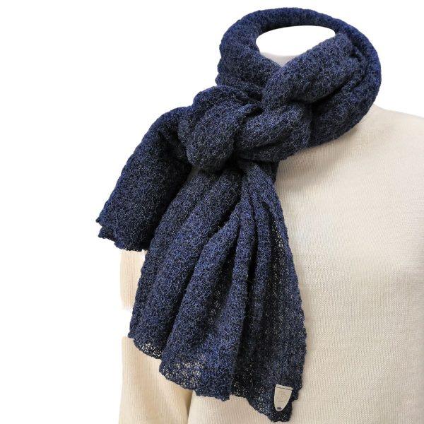 Pirita DesignUni-baby alpaca huivi 18074 blue