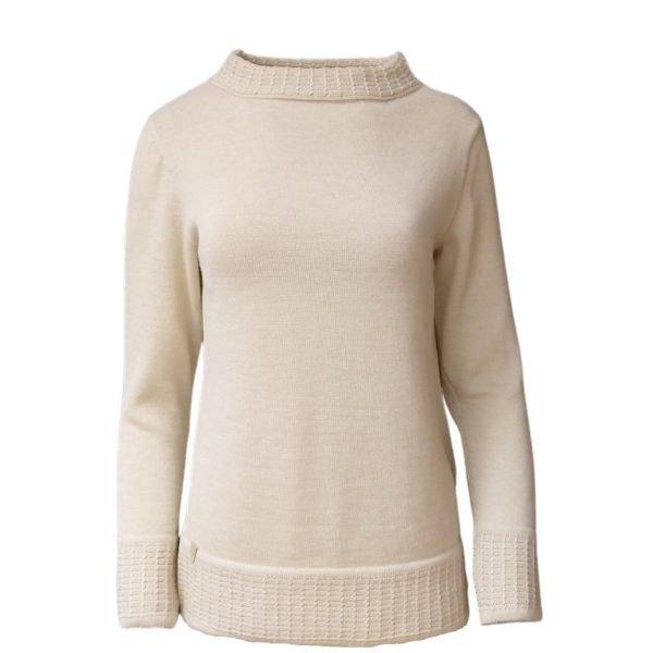 Pirita Design Metsäntyttö 19121 alpakkaneulepusero white