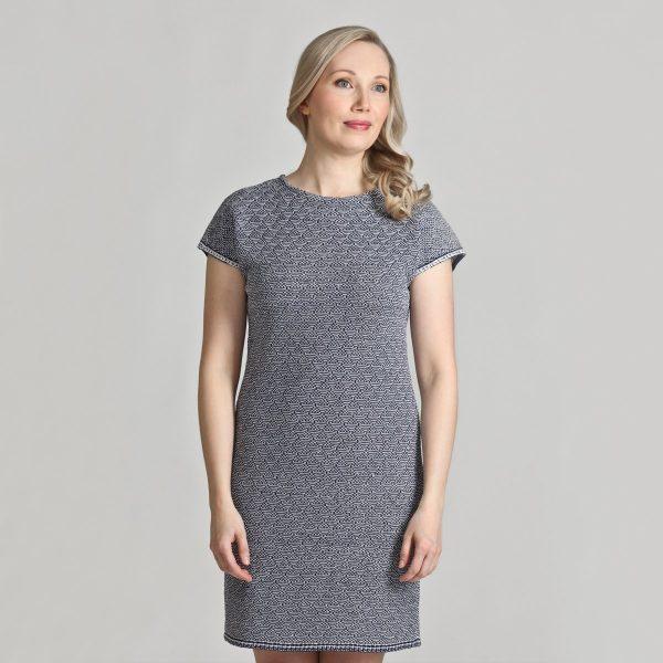 Pirita Design Sola-mekko sini-valkoinen