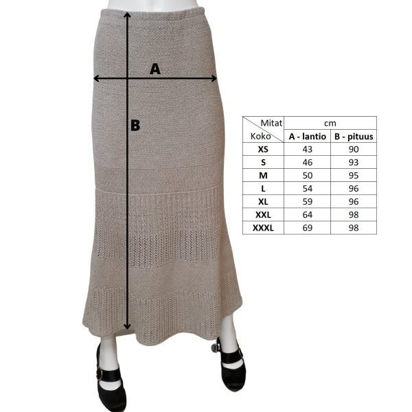 Pirita Design Tuulia-hame mitat