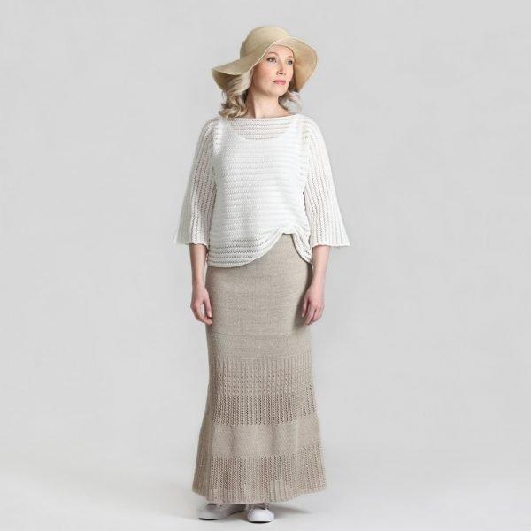 Pirita Design Punos-pusero valkoinen