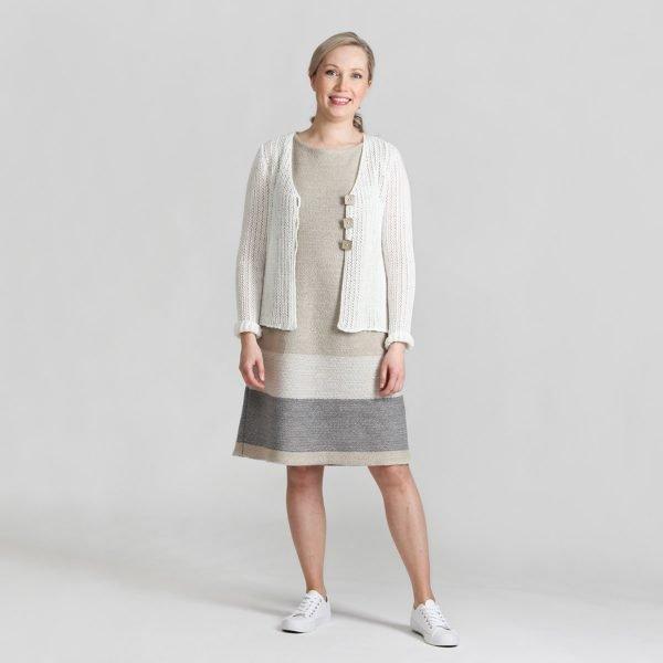 Pirita Design Orvokki-mekko pellava Suvi-jakku