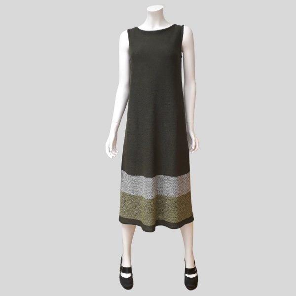 Pirita Design Leinikki-mekko oliivi