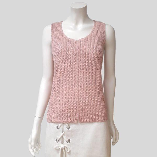 Pirita Design paju-toppi vaalean punainen