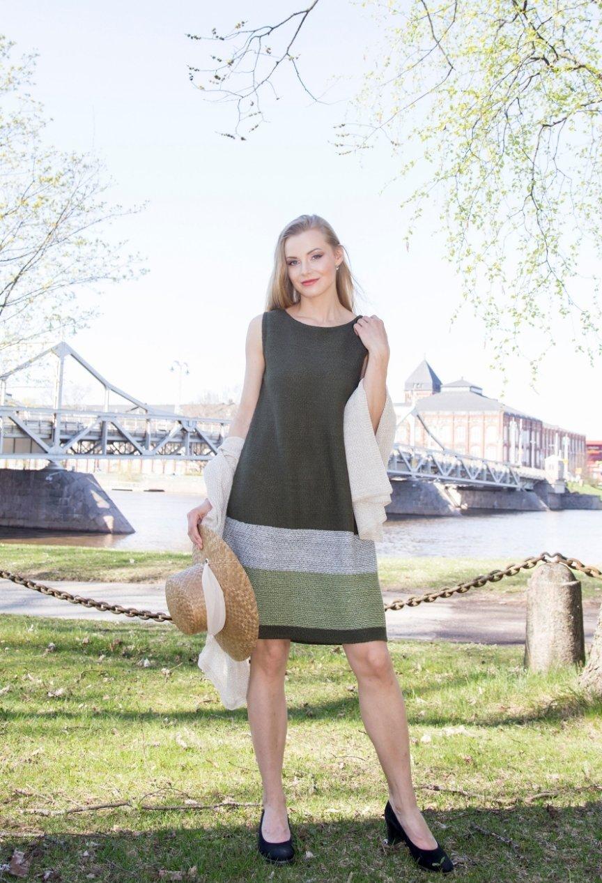 Haave pellavahuivi Orvokki-mekko Pirita Design